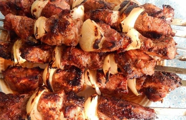 шашлык из баранины по - кавказски