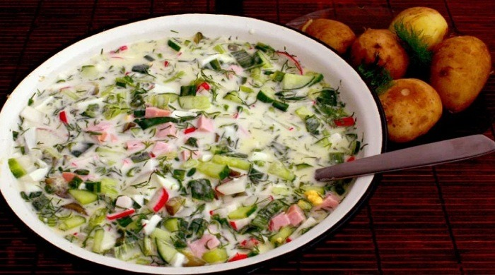 Рецепты приготовления окрошки на квасе с различными ингредиентами