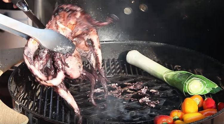 переворачиваем осьминога