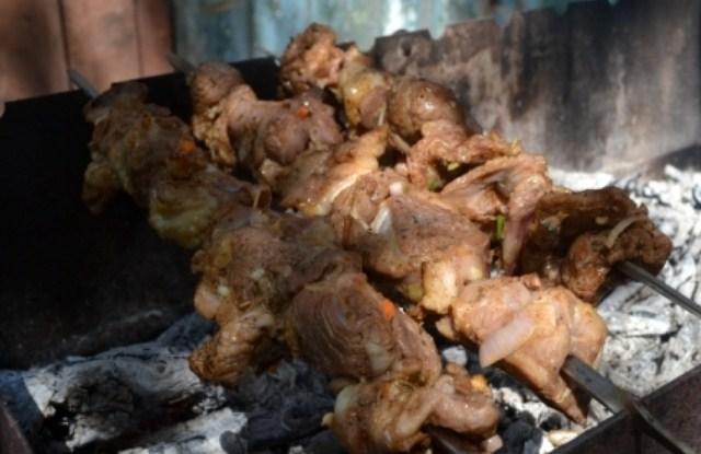пожарить мясо