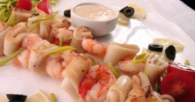 шашлык из морепродуктов