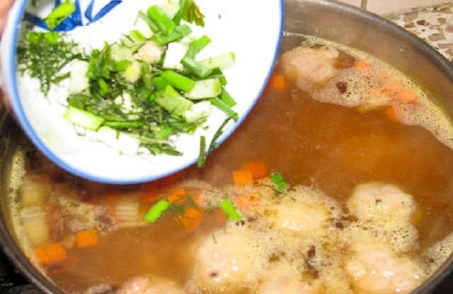 зелень в суп