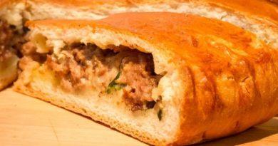Рецепты приготовления вкусных оригинальных домашних пирогов с мясом