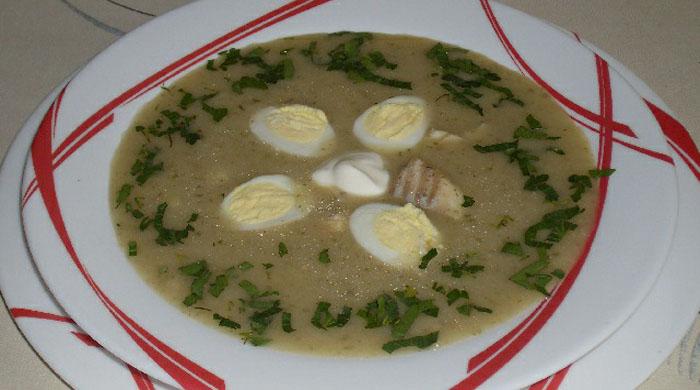 рыбный суп со щавелем
