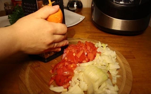 измельчиить овощи