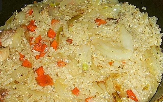 Рецепт риса с мясом.