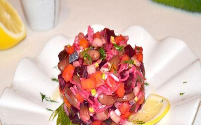 Самый простой вариант салата без картошки.
