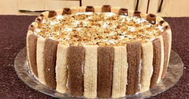 Простые рецепты тортов из печенья без выпечки в домашних условиях с фото
