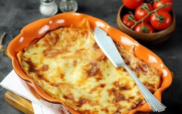 Грибная лазанья с сыром