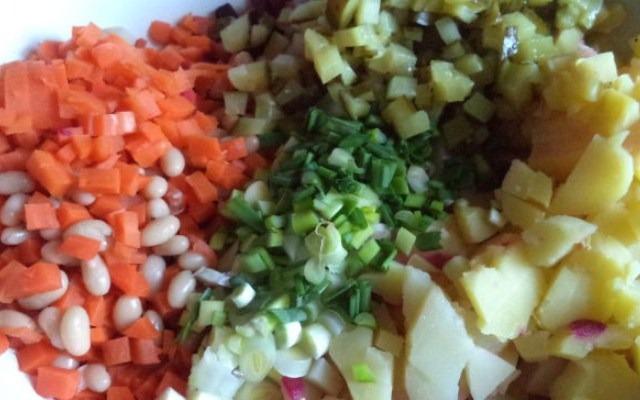 нарезать остальные овощи