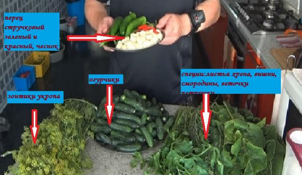 ингредиенты для первого рецепта