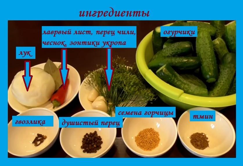 ингредиенты по-болгарски
