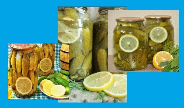 огурчики с лимоном