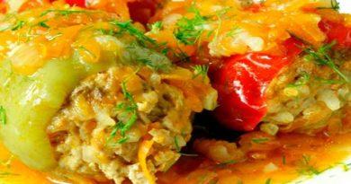 Рецепты фаршированных перцев очень вкусно приготовленных по-домашнему
