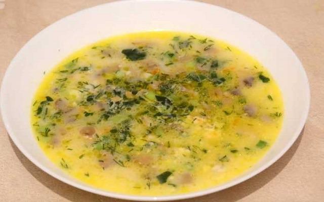 суп с сыром