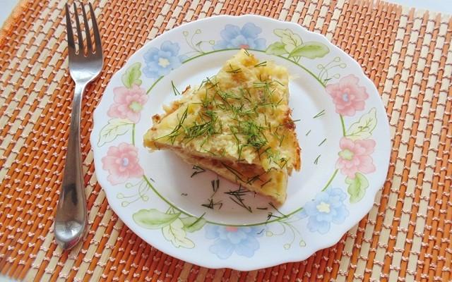 Запеканка из картофельного пюре с курицей и сыром