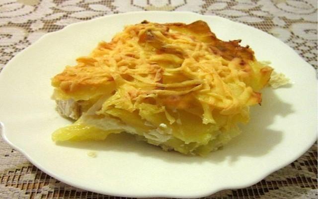 запеканка из картофеля с куриной грудкой