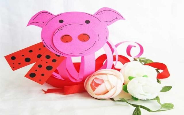 поделка свинка