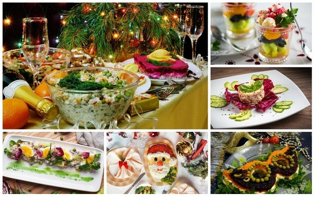 новогодние простые салаты