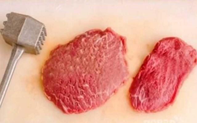 отбить мясо для лангета