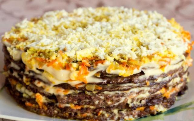 печеночный торт из говядины