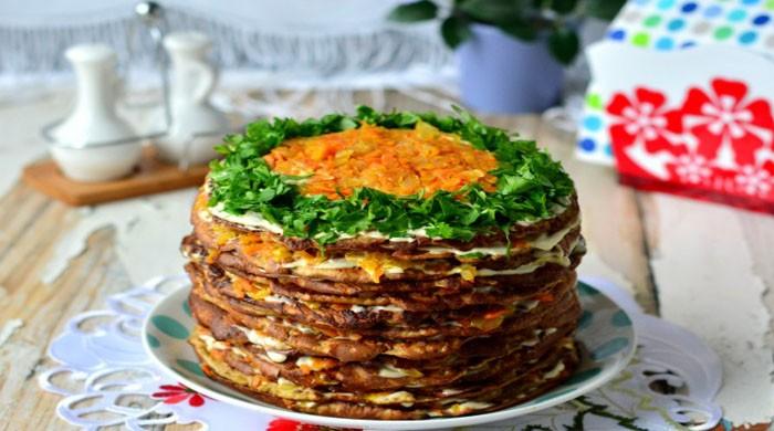 Печёночный торт — 6 лучших рецептов приготовления из говяжьей печени