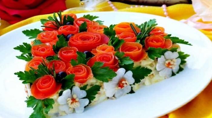 Рецепты приготовления вкусных и простых салатов на День Рождения, с фото