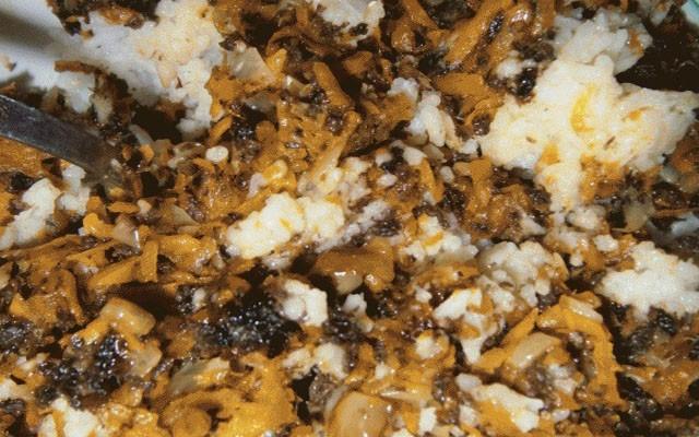 добавить рис и грибы
