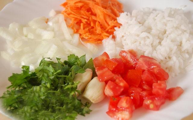 покрошить овощи