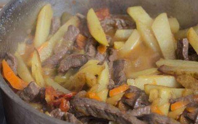 добавить картошку в азу