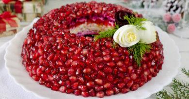 Классические пошаговые рецепты приготовления салата Гранатовый браслет