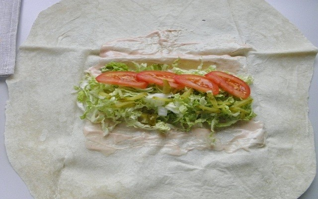 овощи на лаваш