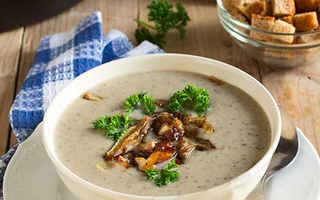 Грибной суп-пюре из лесных грибов