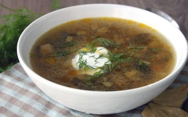 Грибной суп с вермишелью и картофелем
