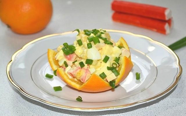 салат крабовый с апельсином