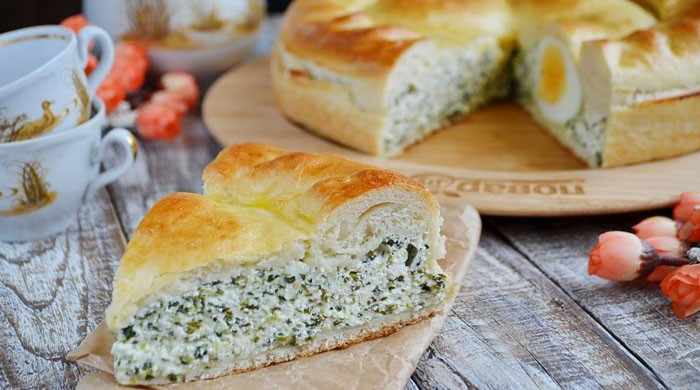 Пироги — варианты вкусной выпечки, несладких пирогов с творогом