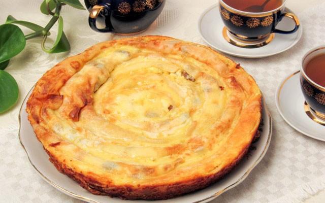 готовый блинный пирог