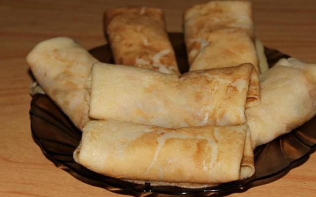 Блинчики с мясом — рецепты выпечки фаршированных блинов, тесто и мясная начинка