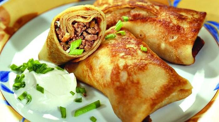 Блины с начинкой — различные варианты рецептов приготовления фаршированных мясом блинов