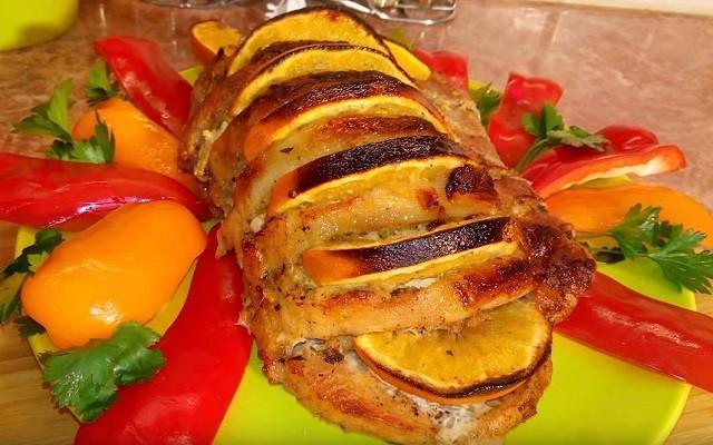 Свинина в фольге в духовке с апельсинами