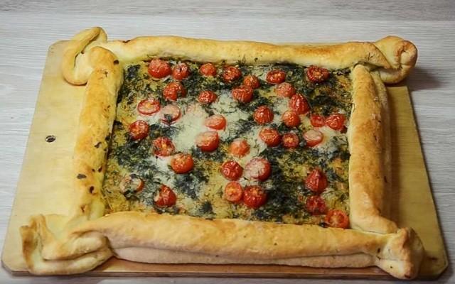 Пирог с сельдереем и овощами