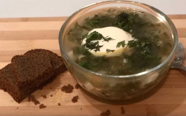 Постный суп с крапивой