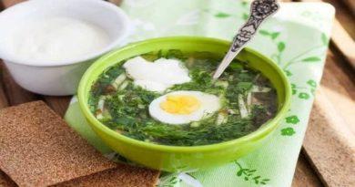 Рецепты приготовления вкусного, оригинального зелёного борща с крапивой