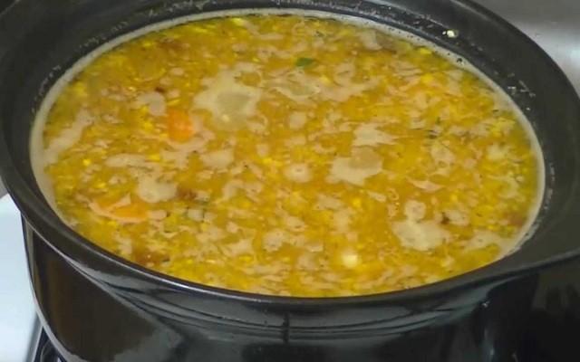перемешать суп