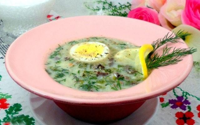 Греческий пасхальный суп
