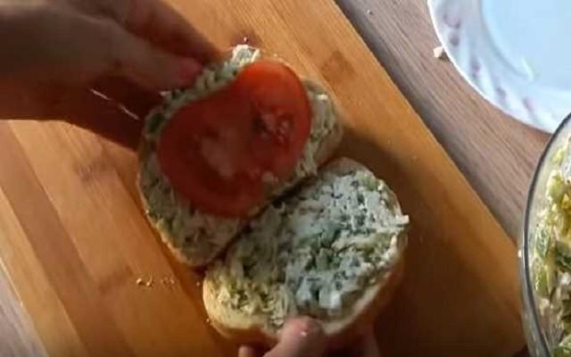 сложить сэндвич