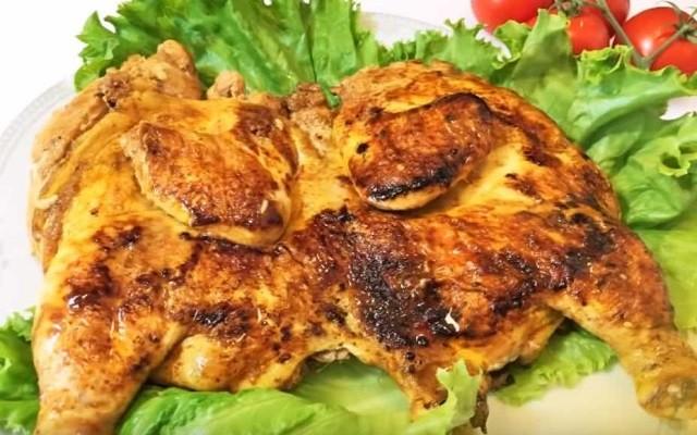 Рецепт цыпленка табака на сковороде