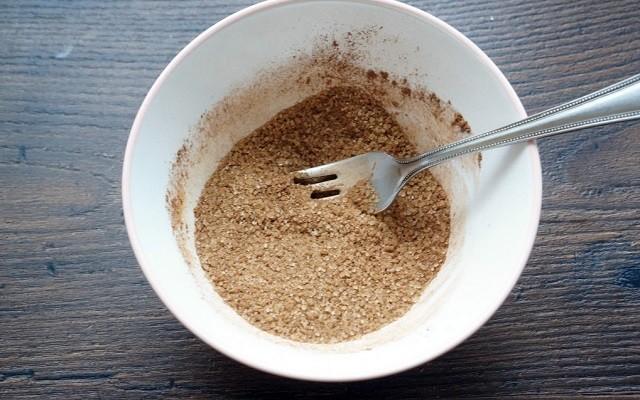 соединить корицу, какао, имбирь
