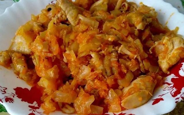 Калорийность тушеной капусты с курицей