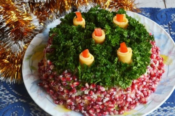 Салат «Новогодние свечи!»